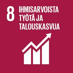 8. Ihmisarvoista työtä ja talouskasvua